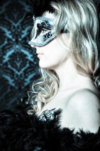 Fotoshooting Venezianische Maske 1